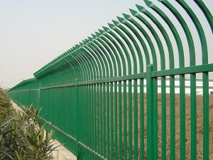 Curved Top Picket Steel Fence