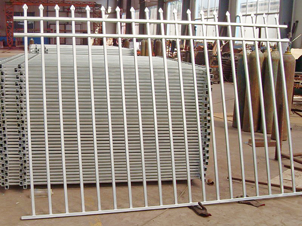 Galvanized Steel Picket Fence