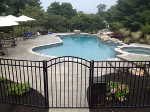 Pool-Safe Aluminium Gate