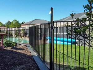 Powder Coated Flat Top Metal Pool Fence